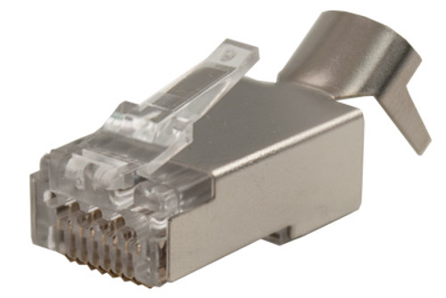 CAT6A Feed Through Style Plug - Shielded - 100 Count