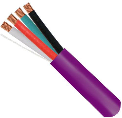 16/4 Audio / Speaker Cable 500', CMR, CL3 Rated - Purple