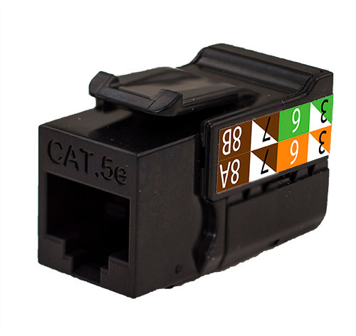 CAT5E Keystone Jack - Black