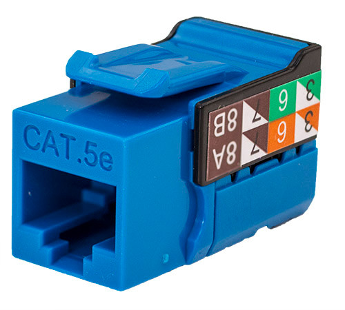 CAT5E Keystone Jack - Blue