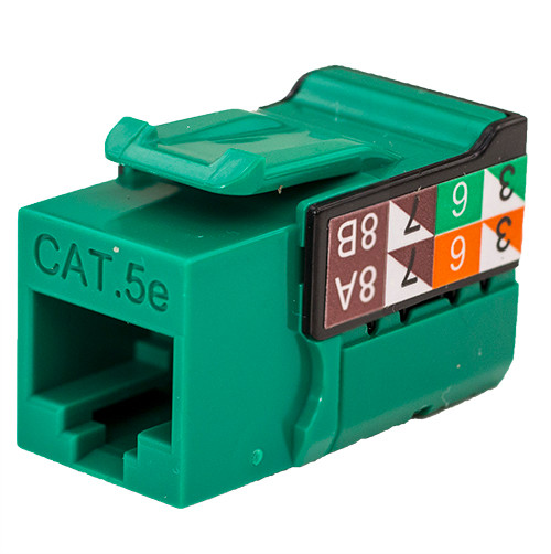 CAT5E Keystone Jack - Green