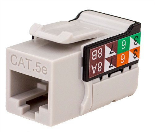 CAT5E Keystone Jack - Gray
