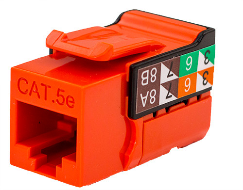 CAT5E Keystone Jack - Orange