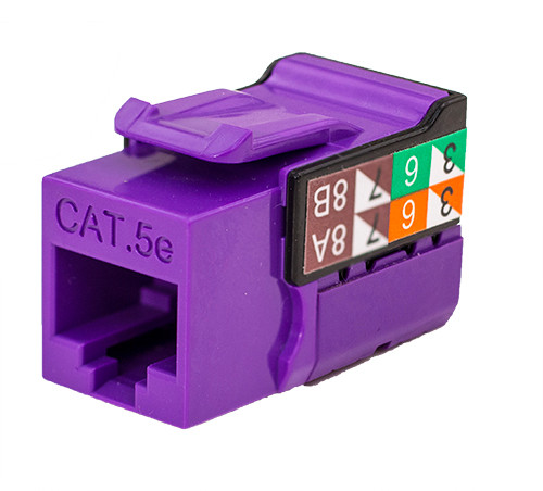 CAT5E Keystone Jack - Purple
