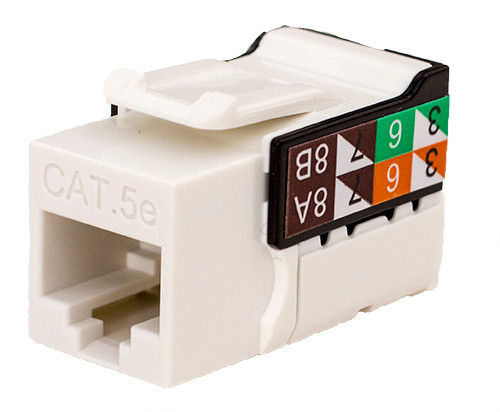 CAT5E Keystone Jack - White