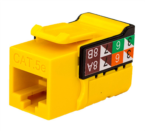 CAT5E Keystone Jack - Yellow
