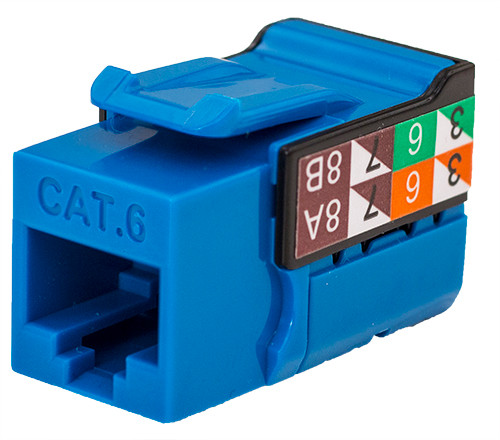CAT6 Keystone Jack - Blue
