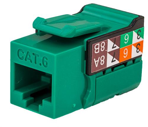 CAT6 Keystone Jack - Green