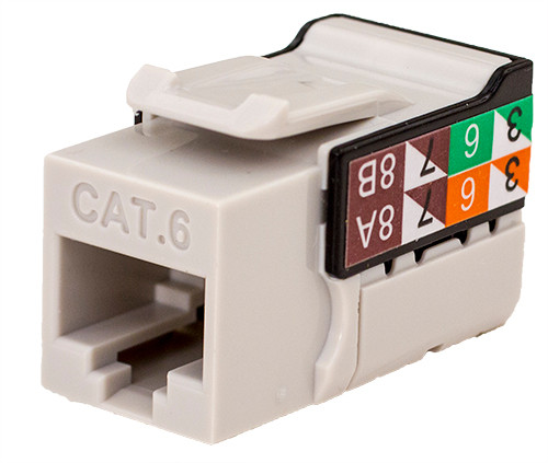 CAT6 Keystone Jack - Gray