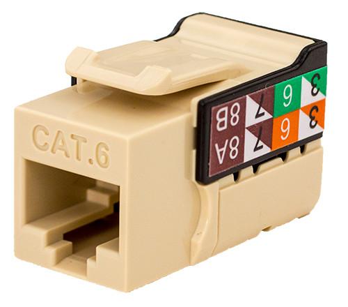 CAT6 Keystone Jack - Ivory