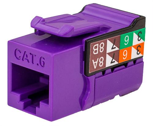 CAT6 Keystone Jack - Purple