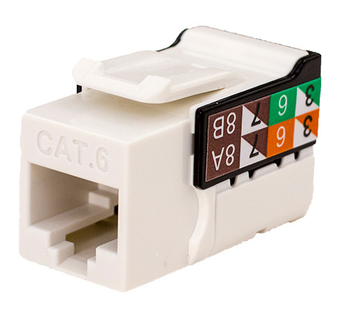 CAT6 Keystone Jack - White