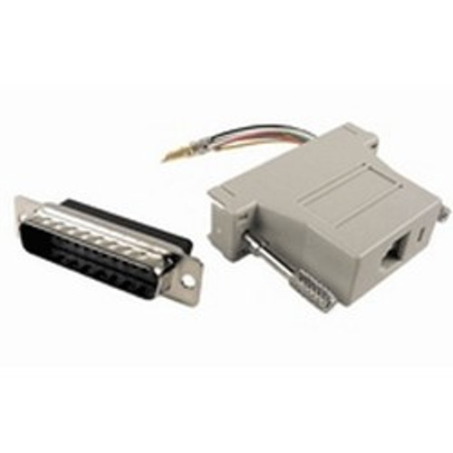 CLOSEOUT - Networking RJ45 (8P8C) To DB25 Female Adapter