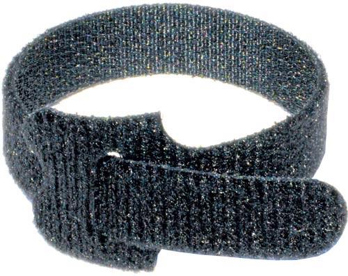 "Velcro wraps 8""X1/2"" Black. 50 Pack"