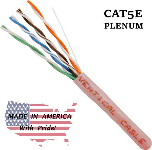 Bulk Plenum Cat5 Pink