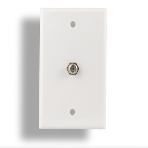 F-Type Jack Wall Plate, White