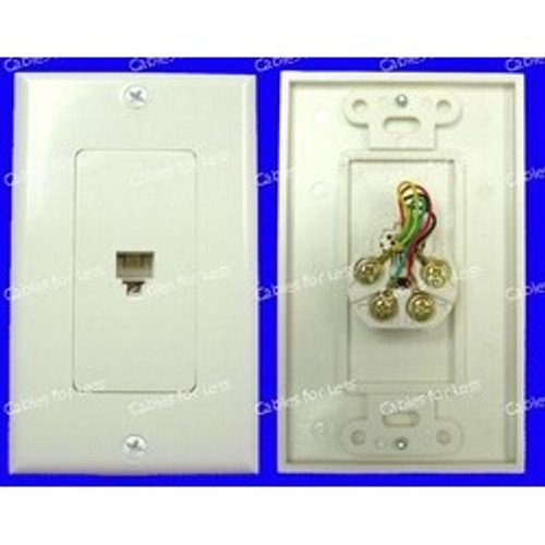 CLOSEOUT - Decorator Single 6P4C Phone Jack Wall Plate