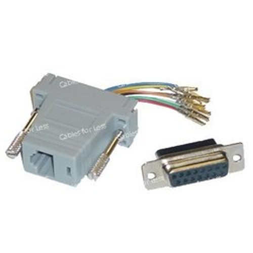 Networking RJ45 (8P8C) To DB15 Female Adapter
