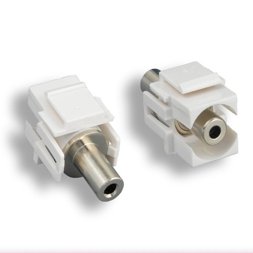 Keystone Connector 3.5mm With White Jack