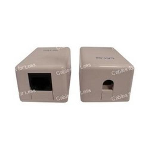 Single RJ45 Cat5 Surface Mount Box