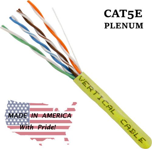 Bulk Plenum Cat5 Yellow