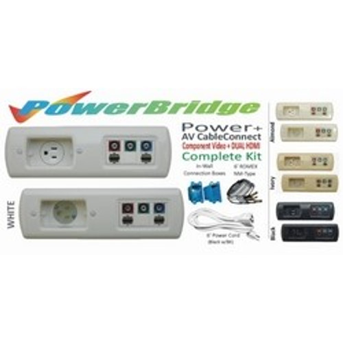 CLOSEOUT - PowerBridge Total Solution Power + AV CableConnect Kit With 6 Foot NM-B: Component Video + Dual HDMI