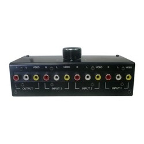 CLOSEOUT - 3-Input Composite Video, And Analog Left And Right Audio Switcher