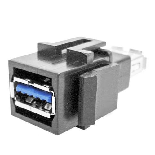 Keystone Connector, USB A, Black