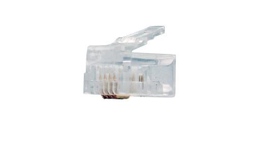 Bag of 100 RJ11 Connectors, 6P4C