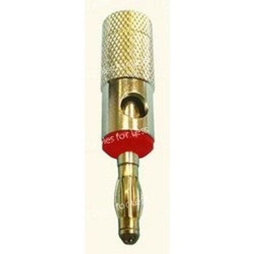 Banana Style Red Screw-On, High Conductivity Speaker Terminal Up To 8AWG