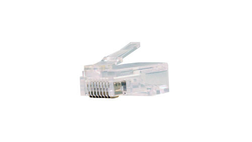 CAT5E Plug For Round Solid or Stranded Cable - 100 Count