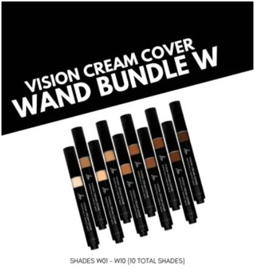 Vision Cream Cover Wand W01 - W10