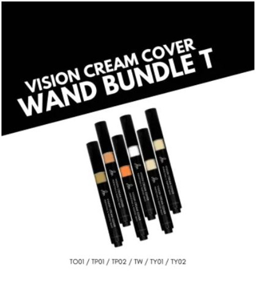 6-Piece Vision Cream Cover Wand: Corrector Shade