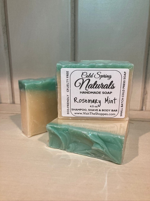 Rosemary mint natural shampoo bar