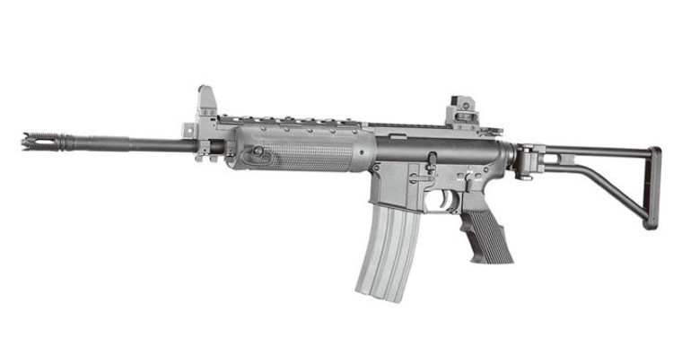 A&K LR300L Airsoft Rifle AEG with Folding Stock in Black