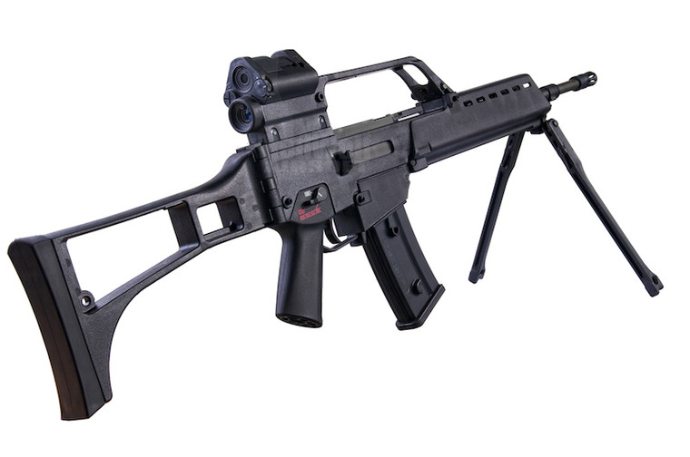 ARES AS36 AEG HK Replica Airsoft Rifle with Bi Pod in Black