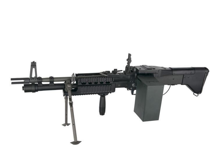 A&K MK43 Support Gun with Bipod Airsoft AEG in Black