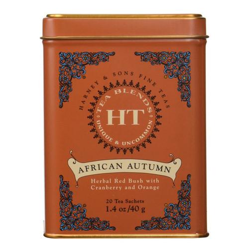 Harney & Sons HT African Autumn (Rooibos) 20 Sachet  Tea Tin