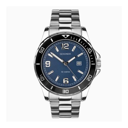 Sekonda Mens Blue Face Stainless Steel Watch 1512