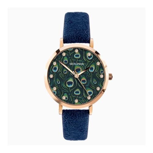 Sekonda Ladies Blue Peacock Watch 40022