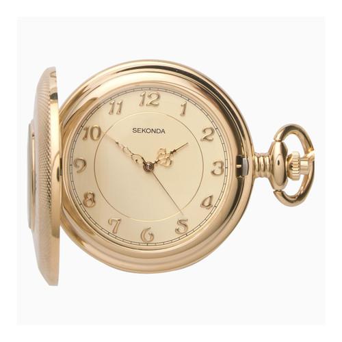 Sekonda Gents Gold Hunter Pocket Watch 3469