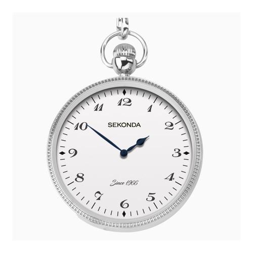 Sekonda Gents Silver Pocket Watch 1792