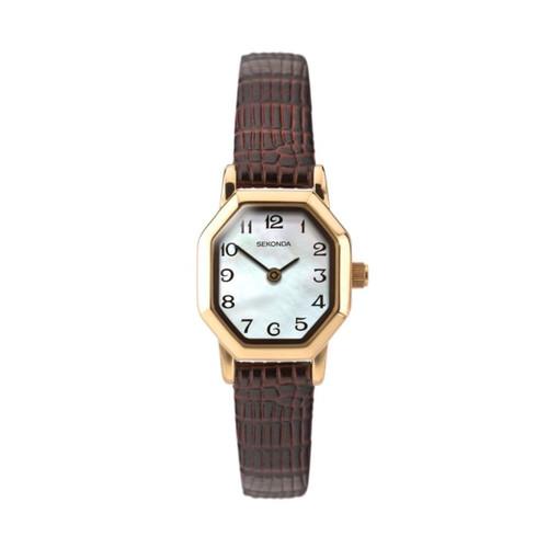 Sekonda Ladies Brown Leather Strap Watch 4416