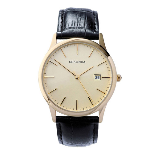 Sekonda Mens Classic Gold Plated Watch 3697