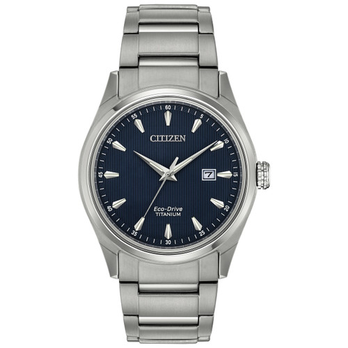 Citizen Mens Eco-Drive Titanium Watch BM7360-82L