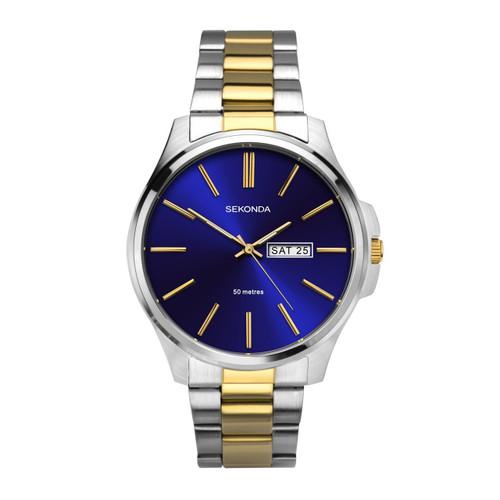 Sekonda Mens  Classic Two-Tone Bracelet Watch 1440