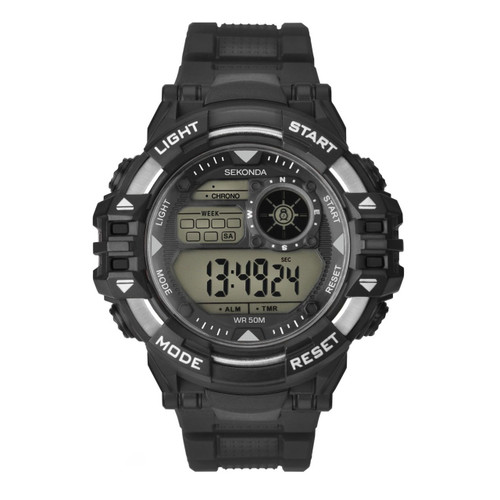 Sekonda Mens Black Strap Digital Sports Watch 1522