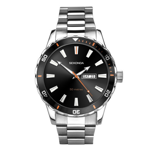 Sekonda Mens Stainless Steel Bracelet Sports Watch 1373