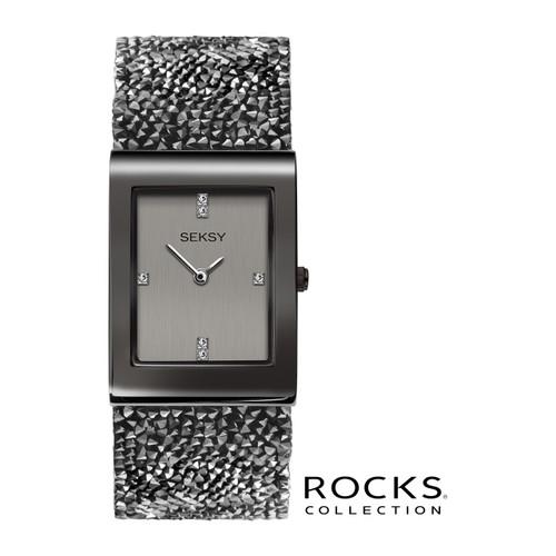 Sekonda Ladies Seksy Rocks Gun Metal Plated Bracelet Watch 2654