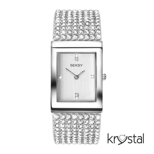 Sekonda Ladies Seksy Krystal Stone Set Bracelet Watch 2375